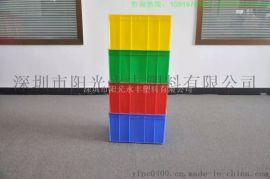 出厂价供应全新HDPE料周转箱塑胶卡板防静电塑胶箱塑料方盘零件盒