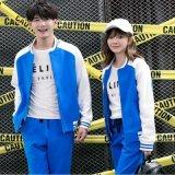 秋冬男 女學生韓版開衫外套情侶衛衣運動套裝班服情侶裝定製LOGO