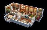 西安别墅户型图渲染,别墅3D户型图制作