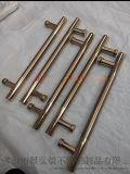 304玫瑰金不鏽鋼拉手  鏤空不鏽鋼大門把手 來圖訂做加工