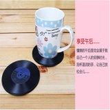 热销经典复古CD唱片杯垫 PVC杯垫 创意家居杯垫 隔热垫定制
