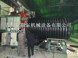 增强内肋管挤出设备,PE/HDPE内肋排污管生产线