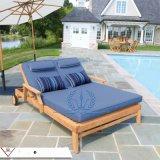 高档大气柚木双人躺椅  新款沙滩椅