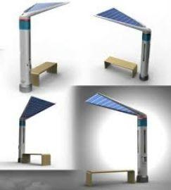 深圳生产厂家可手机充电蓝牙播放休闲节后的太阳能椅子