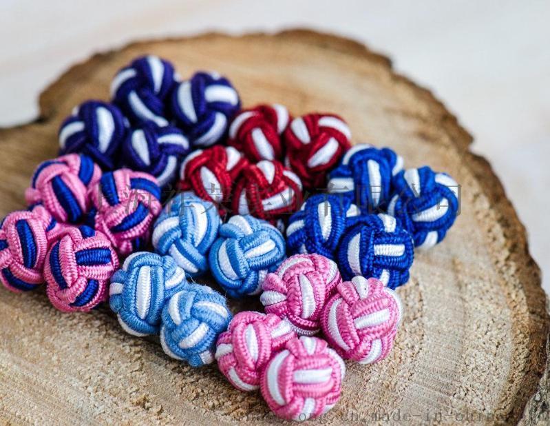 源頭工廠生產各類手工編織袖釦 打結鈕釦 繩釦 鬆緊繩袖釦 盤扣 絲結袖釦 絲綢打結袖釦 繩編袖釦