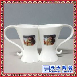 私人订制情侣杯,情侣马克杯,人物肖像骨瓷茶杯