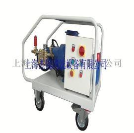 500公斤压力电动高压清洗机、水泥厂窑尾烟室结皮去除专用高压清洗机