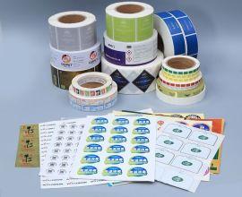 卷筒不干胶标签/卷筒PVC不干胶/圆形透明标/彩色卷筒标签