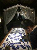 桌面鑲嵌瓷板_定做青花瓷板廠家_景德鎮瓷版畫廠家