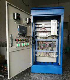 柜式落地式变频柜ABB恒压供水变频免调试11kw控制柜一拖二触摸屏