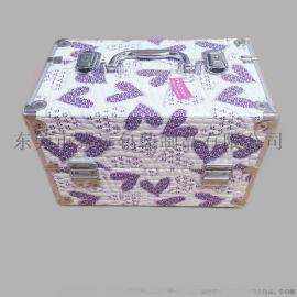 双开铝制化妆箱手提多层美容纹绣美甲工具收纳箱