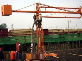 广东潮州市18米混凝土布料机施工案例