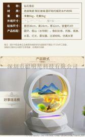 流水摆件假山欧式鱼缸喷泉创意家居玄关装饰品