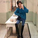 嘉貝逸飛北京外貿服裝尾貨批髮網折扣 品牌尾貨剪標女裝批發綠色旗袍唐裝