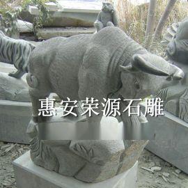 供应惠安石雕动物 石雕水牛 石雕牛摆件