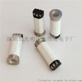 耳机插座 6p焊线式圆形音频母座 充电转音频6.8