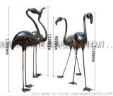 園林景觀鏡面不鏽鋼火烈鳥雕塑擺件栩栩如生揮灑青春