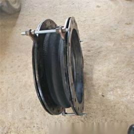 橡胶软连接A304不锈钢法兰耐磨橡胶软接头直营