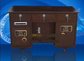 全钢保险桌保险柜一体 家用办公老板桌投币柜电子密码