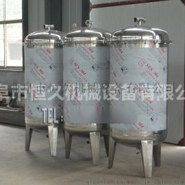 山东白酒酿酒设备 金属压力容器 5吨立式卧式不锈钢储存罐 白酒果酒奶酒饮料储运罐 七台河 白钢罐的厂家