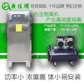 厂家供应茂名水处理设备100g氧气源臭氧发生器