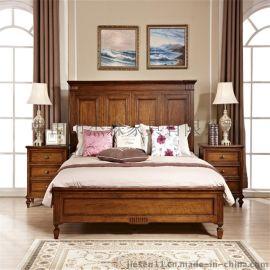 包邮实木双人床1.5 1.8米大床松木儿童床1米单人床1.2米简易木床