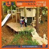 厂家定制新型丛林树屋 特色儿童攀爬树屋 空中木屋