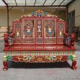 成都中式茶楼家具中式实木茶桌,中式椅子定制家具