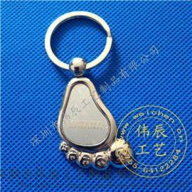 合金鑰匙扣定製,噴漆印刷活動促銷鑰匙扣