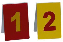 红黄铝制现场标志牌,现场物证牌,红黄铝物证牌