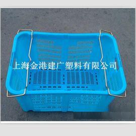 供应 630*438*355塑料周转筐  服装 蔬菜筐 可套塑料筐子