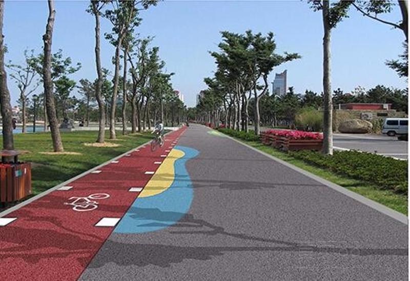 人行步道彩色透水地坪材料厂家 贵州贵阳混凝土添加剂生产商 休闲艺术广场