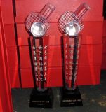 水晶奖杯 水晶奖牌 西安水晶奖杯定制 精致水晶奖杯