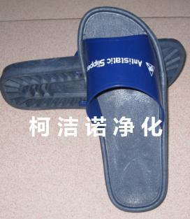 防静电PVC拖鞋 富士康  款 一体成型胶拖鞋 净化工作拖鞋 蓝色洁净鞋