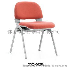 广东顺德简单时尚培训椅 多功能优质钢制学习椅 耐用麻布新闻椅