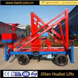 折臂式升降机 高空作业平台 移动液压升降车
