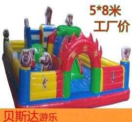 儿童大型充气城堡室外 蹦蹦床淘气堡户外游乐场玩具