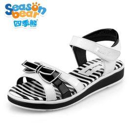 四季熊小孩凉鞋2016夏季新款韩版学生鞋子大童软底公主鞋