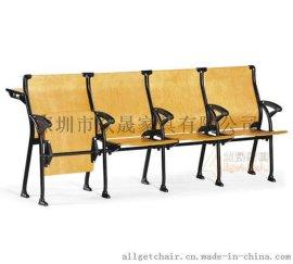 课桌椅 大教室课桌椅 新型写字板课桌椅