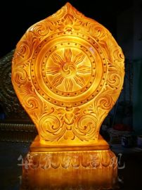 广东玻璃钢雕塑公司夜景雕塑发光小品雕刻作品