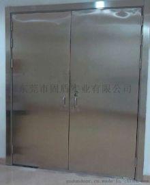 固盾不锈钢防火大玻璃门,不锈钢玻璃防火门
