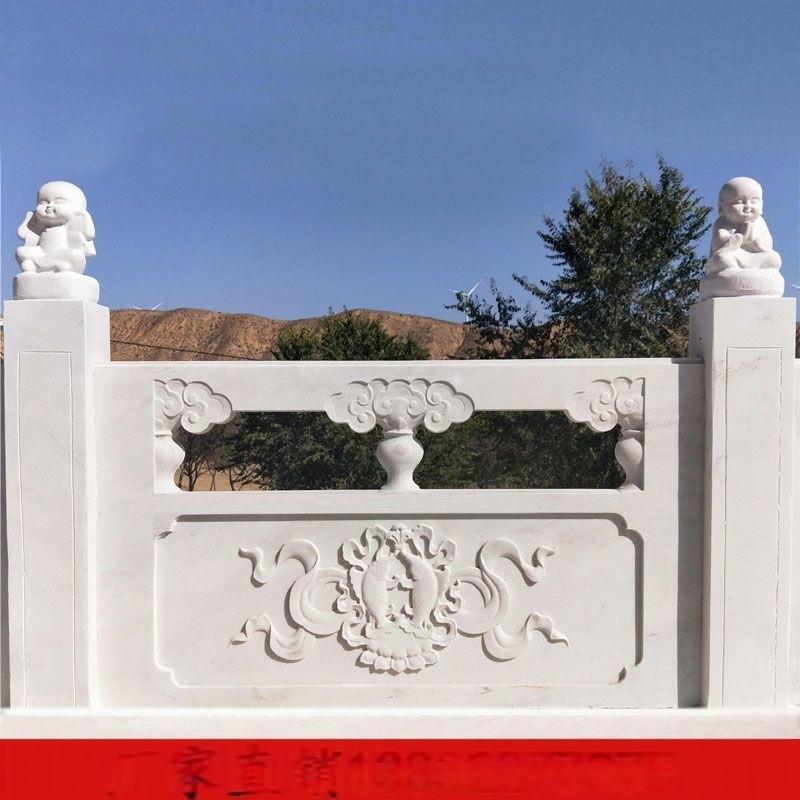 草白玉栏杆批发供应-曲阳聚隆园林雕塑