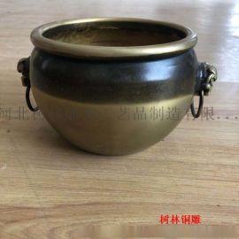厂家定做小型铜缸 家居装饰品铜雕工艺品摆件