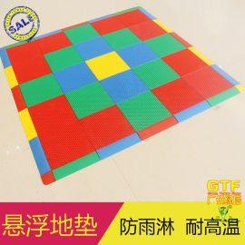 绿塔悬浮地板 运动拼装地板 疏水地垫