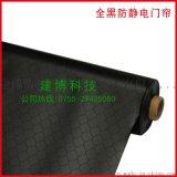 黑色PVC防靜電窗簾 0.3黑色網格簾 全黑防靜電軟簾