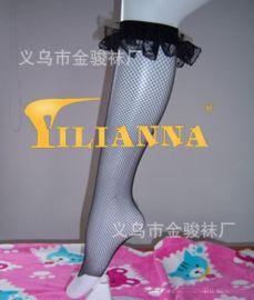 情趣絲襪時尚新款婷婷玉立可愛小公主褶折花邊中統網襪