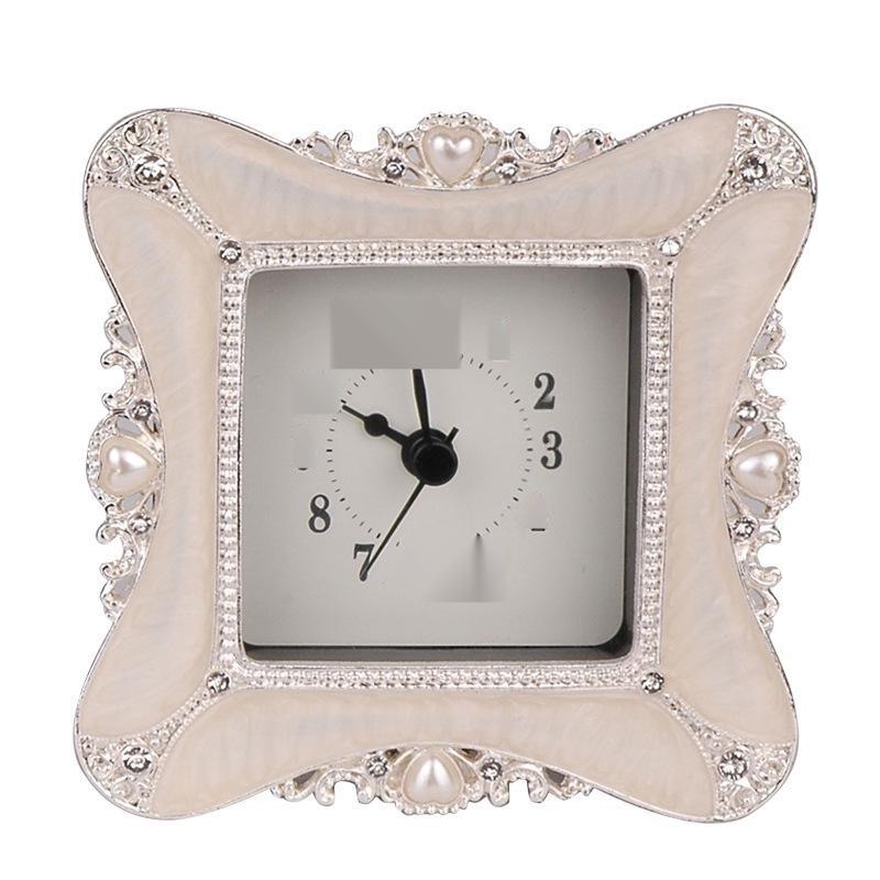 歐式家居創意鐘錶擺件座鐘臺鐘錶牀頭客廳書房無鬧鐘電子鐘靜音