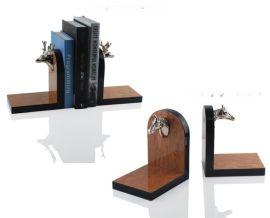 欧式创意家居饰品摆件桌面小书架书挡书立样板房软装饰品