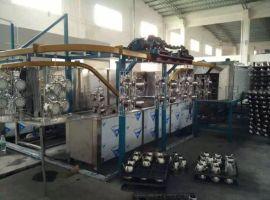 不锈钢水壶自动超声波清洗线 除油除蜡悬挂链式清洗烘干设备
