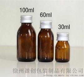 供应玻璃棕色口服液瓶 茶色糖浆玻璃瓶